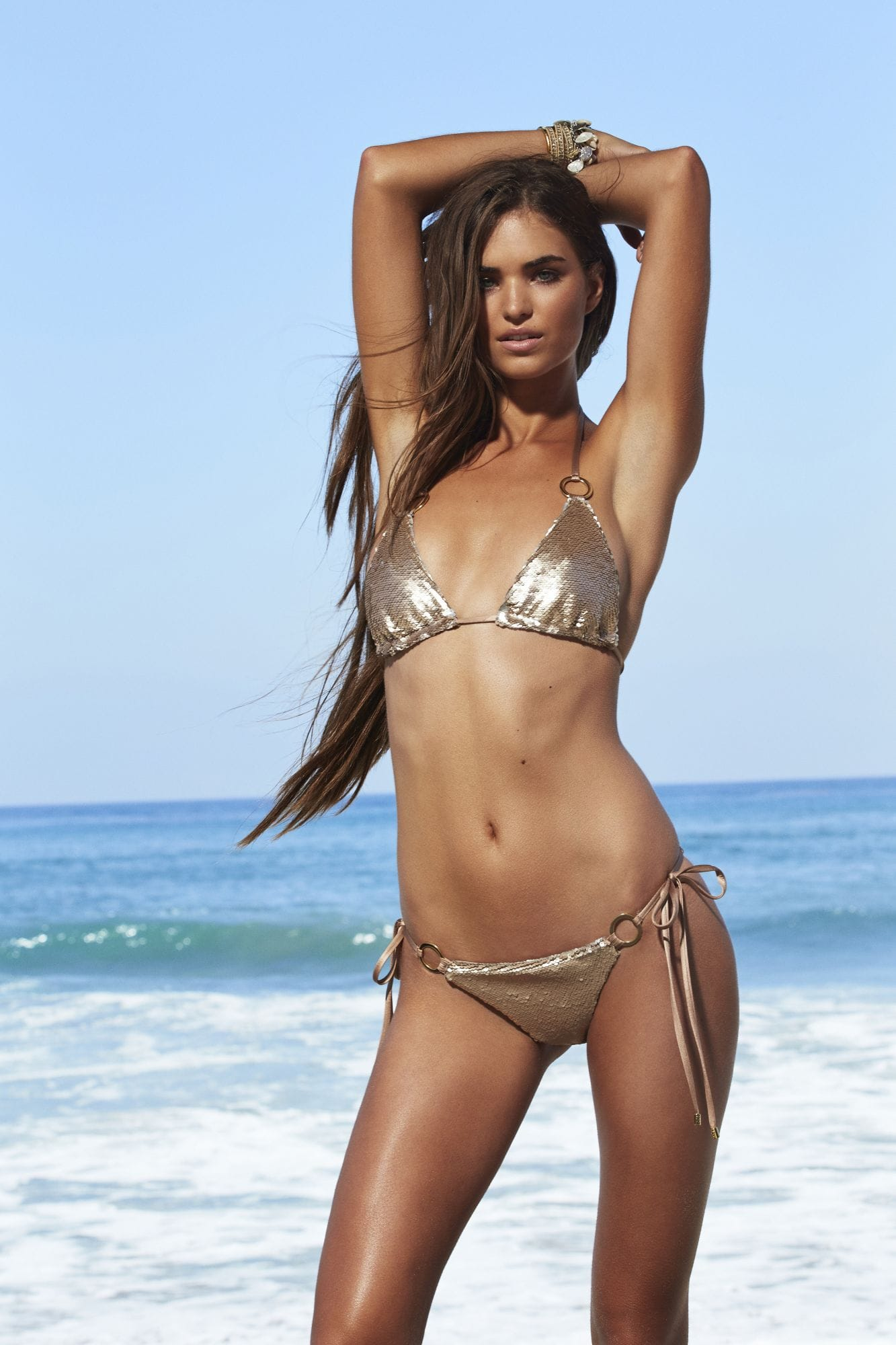 Bikini fishing girl
