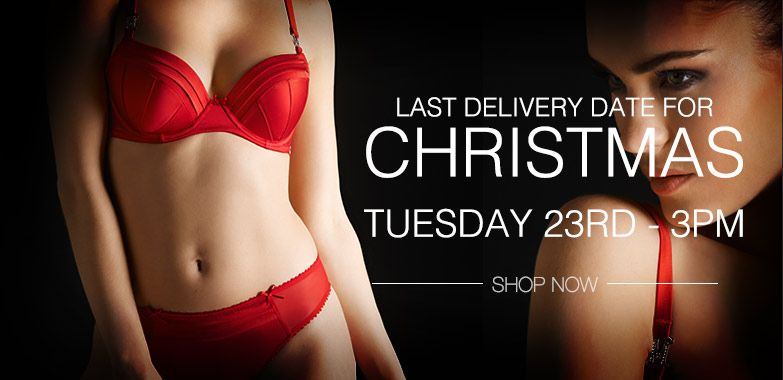 Last minute Christmas lingerie for next day delivery.