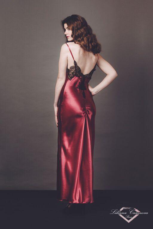 Liliana Casanova – Chenonceau – Long Silk Nightdress Back