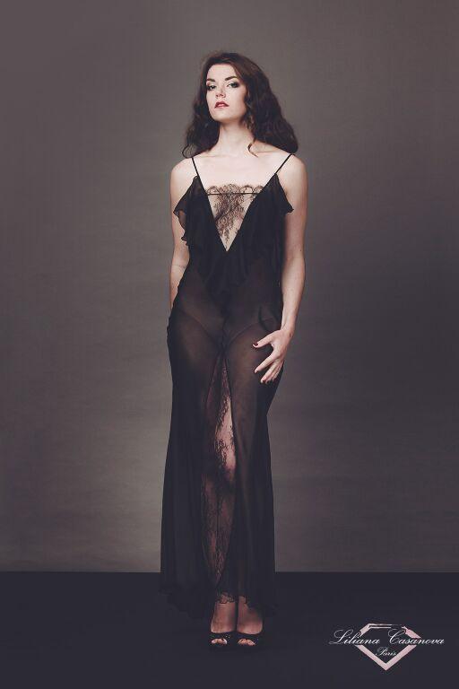 Liliana Casanova Paris - Brisette - Silk Mousseline Nightdress