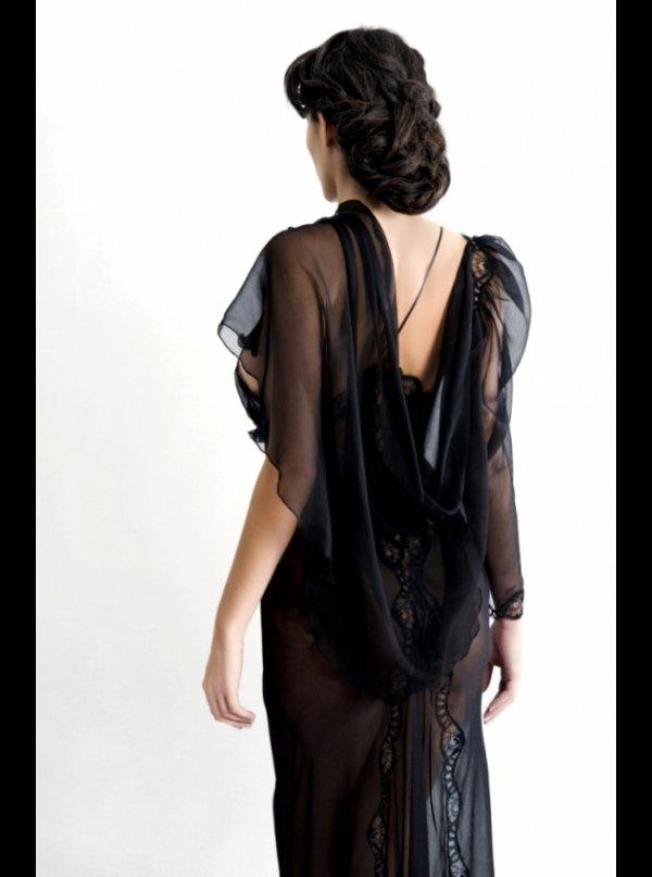 ... Liliana Casanova Paris Lutece - Mousseline Silk Short Sheer Dressing  Gown. ‹ 4b872dd04