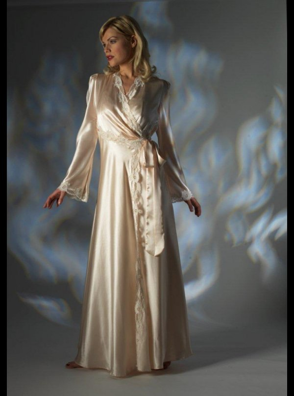 Jane Woolrich, Pure Silk Robe, 2682 - Honeys Lingerie Boutique