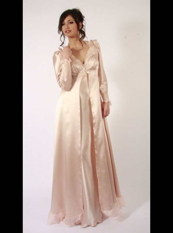 Liliana Casanova|Victoire Silk Dressing Gown|Honeys Lingerie Boutique