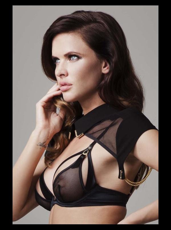 19f65159400 Tatu Couture - Sylvia - Mesh Black Peep Bra ...