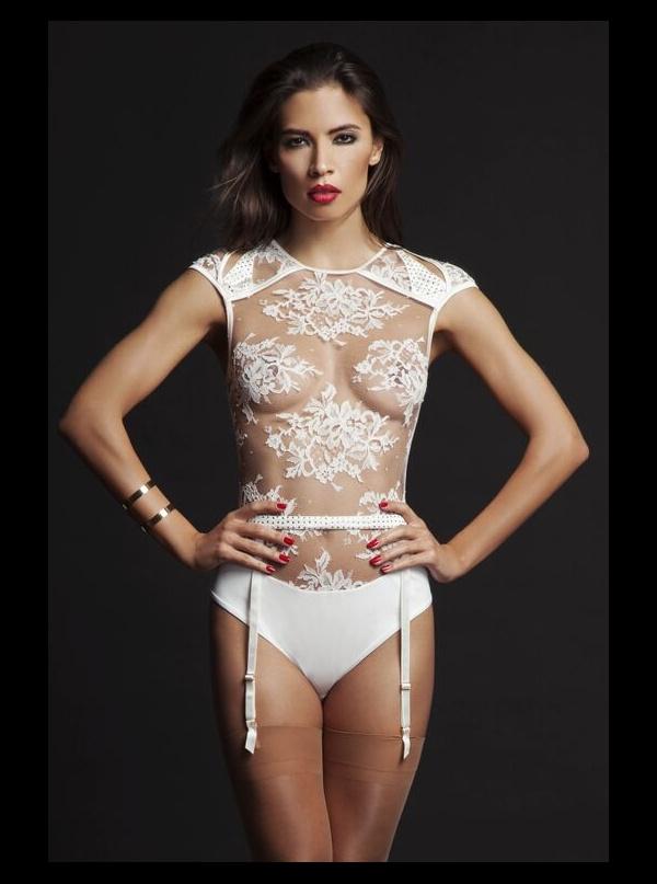 970b69a27ec Nadya Sheer Thong Lace Body   Suspender - Honeys Lingerie Boutique