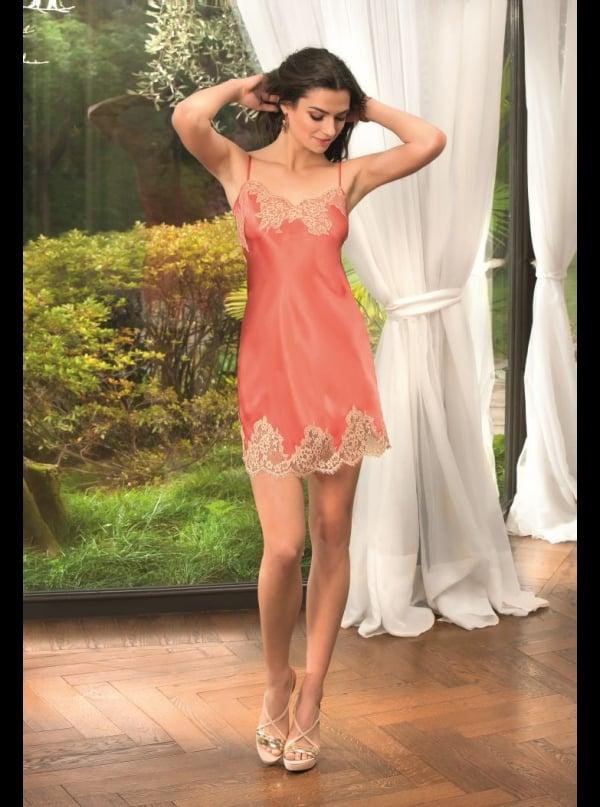 lise charmel gravure corail silk nightie honeys lingerie. Black Bedroom Furniture Sets. Home Design Ideas