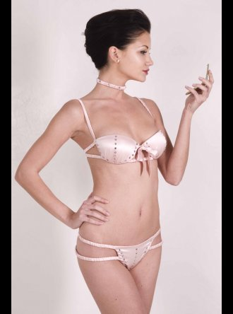 Porzia T Frione - corset bra - Rose