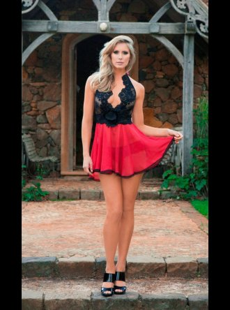 Sally Jones Sally Jones- Poppy Babydoll and Poppy Brief Set
