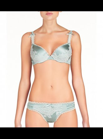 Pleasure State Couture - Sensuale Blue Surf - Push-up Plunge Bra