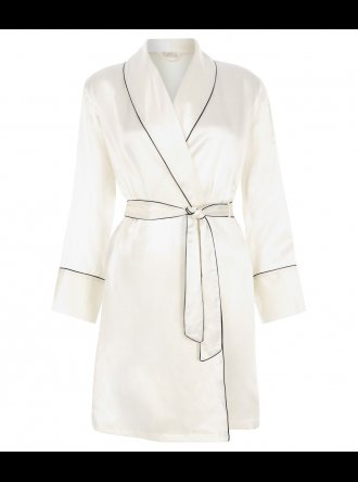 JULIANNE London - Jeanne - Cream Silk Robe