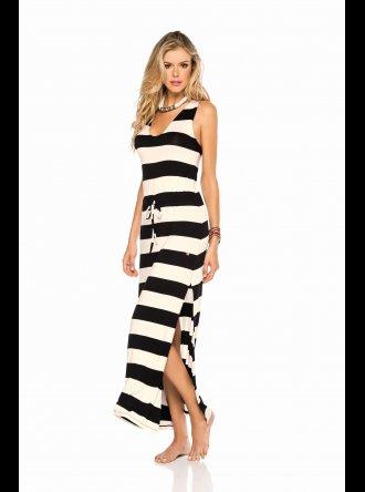 PHAX Swimwear PHAX - Black and Cream - Beach Dress
