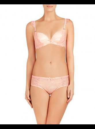 Pleasure State - Kourtney Leigh Peach - Push Up Plunge Bra