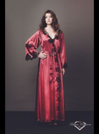 Liliana Casanova Paris Liliana Casanova – Chenonceau – Long Silk Dressing Gown