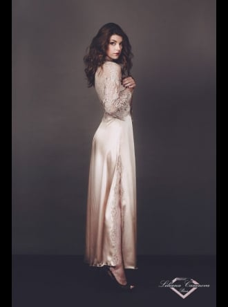Liliana Casanova Paris - Cheverny - Long Silk Dressing Gown
