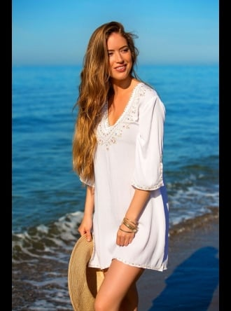 Mya Blue Beach - San Antonio - White Kaftan
