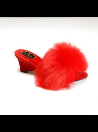 fOOfOO Slippers fOOfOO - Red Sheepskin Mule Slipper