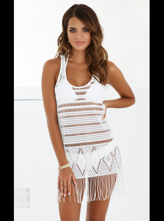 Beach Bunny Swimwear - Desert Dreamer Fringe Beach Dress