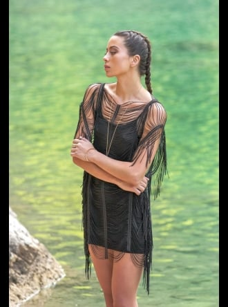 Forever Unique Swimwear and Beachwear Forever Unique - Jewel - Black Beach Dress