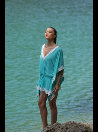 Forever Unique Swimwear and Beachwear Forever Unique - Damson - Embellished Beach Kaftan