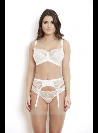 Katherine Hamilton Intimates - Sophia Ivory Suspender Belt