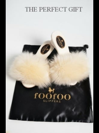 fOOfOO Slippers fOOfOO - Ivory Sheepskin Mule Slipper