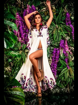 Forever Unique Swimwear and Beachwear Forever Unique Beachwear - TROPICA - Long Kaftan Dress