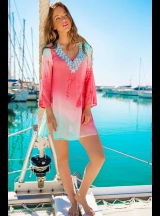 Lindsey Brown Luxe Resort Wear Lindsey Brown Luxe - Resort Wear - Palma - Silk Kaftan