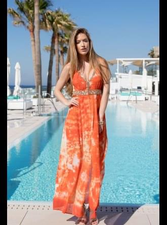 Lindsey Brown Luxe Resort Wear Lindsey Brown Luxe - Martinique Silk Maxi Dress