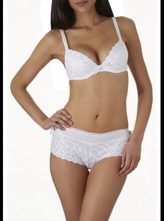 Basket bra aubade bahia model white size 85 b//c