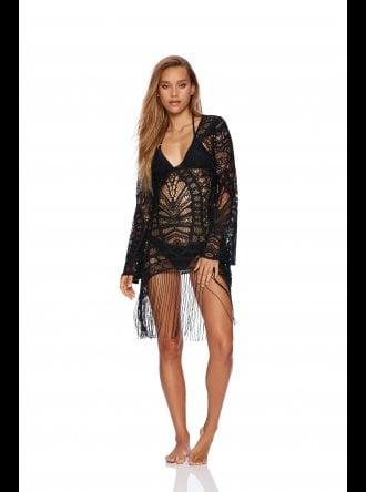 Beach Bunny Swimwear - Sienna - Black Tunic Beach Dress
