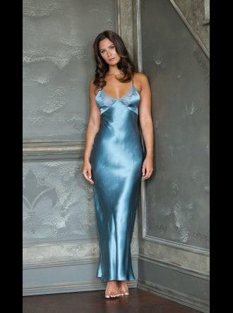 Emma Harris - Tamara Blue Mist Silk Silp (Nightdress)