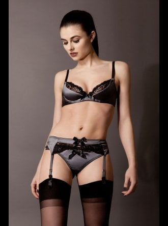 Emma Harris - Signature Steel - Suspender Belt