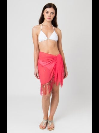 Pia Rossini - Beach Acessories San Remo Mini Sarong - Coral