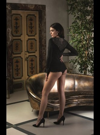 Lise Charmel - Sensualite Douceur - Long Sleve Top With Deep Lace