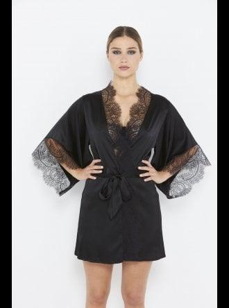 Katherine Hamilton - Ellianna - Black Vintage Lace Robe