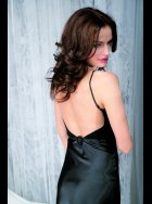 Vanilla Nightwear - Black Low Back - Nightdress