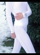 "S'NO Queen - Designer Thermal Underwear - ""Blingy"" White Sexy Long Johns"