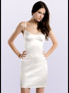 JULIANNE - Samantha - Silver Silk Chemise