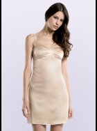 JULIANNE - Samantha - Beige Silk Chemise