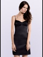 JULIANNE - Samantha - Black Silk Chemise