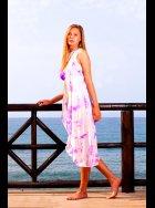 Mya Blue Luxe - Crete Silk Kimono - Lilac