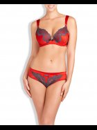 Pleasure State VIP - Piper Phoenix -  Flame Scarlet - Midi Brief