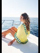 Lindsey Brown Luxe - Manhattan - Yellow - Sequined Silk Kaftan Top