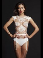 Tatu Couture - Nadya Sheer Thong Lace Body and Suspender Belt