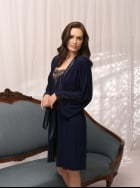 Vanilla Nightwear - Navy Robe 2818