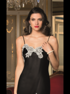 Lise Charmel - Splendeur Soie - Black Silk Nightdress