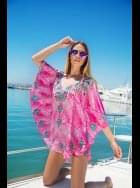 Lindsey Brown Luxe - Crete - Fushia Pink and Jewel Sparkly Top