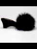 fOOfOO Slippers fOOfOO - Black Sheepskin Mule Slipper