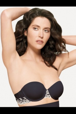 Embrace - Black Strapless Bra