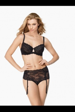 Wacoal - Seduction Black Suspender Brief